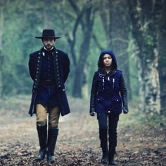"""Nicole Beharie as Abbie Mills and Tom Mison as Ichabod Crane from the TV show ""Sleepy Hollow."" Photo credit: Fox Network."""