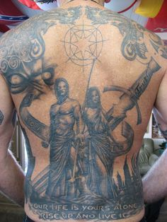 Sword of Truth tattoos. This 60 year old guy is definitely husband material.. This guy is WAY more committed than I!