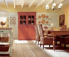 Mellow yellow, Peach Melba ~ country kitchen ~ Fresh and bright, Neat space if the sun stuck around your House all year ~ Lovely Room,lovely!