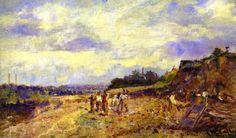Roadmaking, huile sur toile de Frederick Mccubbin (1855-1917, Australia)