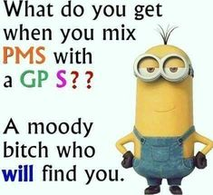 I think it applies to both! Minion Meme, Minions Love, Minions Quotes, Minion Sayings, Minions Fans, Funny Signs, Funny Jokes, Hilarious, Diy Signs