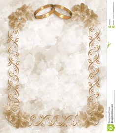 Wedding Invitation Gold Rings Floral Stock Photography - Image: 4666282