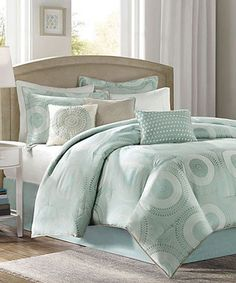 Look at this Blue Circle Amber Comforter Set on #zulily today!