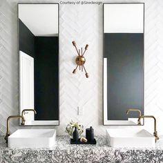 Art Deco Bathroom, Bathroom Layout, Bathroom Interior Design, Modern Bathroom, Master Bathrooms, Bathroom Ideas, Bathroom Vintage, White Bathrooms, Luxury Bathrooms