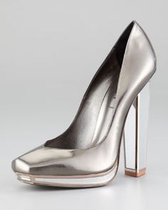 YSL Metallic Mirror Heel Pump... Mirror, Mirror on my Heel!!!!!!!