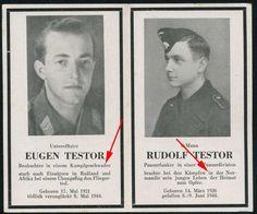 orig. WK2 STERBEBILD - DEATH CARD - BRÜDER - PILOT / ELITE PANZER NORMANDIE 1944