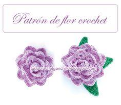 Patrones de flor crochet con base de puntilla