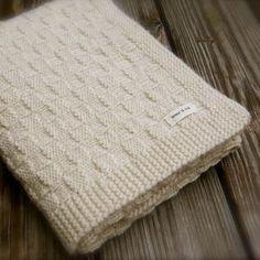 Big Bad Wool Basket Weave Baby Blanket Knitting Pattern PDF