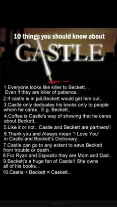 10 things you need to know about Castle #Caskett