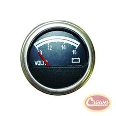 Voltmeter. Replaces Part #: J8126659. Fits:  Jeep CJ (1976-1986).