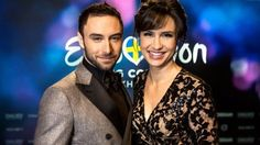 Måns Zelmerlöw and Petra Mede, the hosts of next year's Eurovision Song Contest.