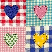 patchwork - swap hearts for circles or squares