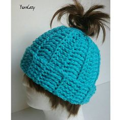 Check out this item in my Etsy shop https://www.etsy.com/listing/500537663/messy-bun-hat-chunky-messy-bun-beanie