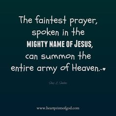 The Power of His Name ~ Heartprints of God