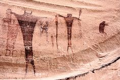 spooky pictograph: Buckhorn Wash Pictograph Panel, Emery County, Utah