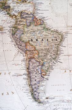 Political map of South America. by Photoweb00 on Creative Market