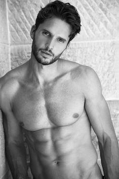 Dejan Obradovic- Male Model. Photography by Pat Supsiri. Shirtless. Black & White. Natural/Timeless.