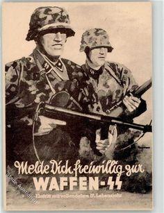 Künstlerkarte SS Waffen- Propaganda WK II: Ansichtskarten-Center Onlineshop