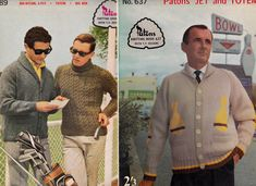LOT of 2 1950s Mens Knitting Pattern by allthepreciousthings, $10.00