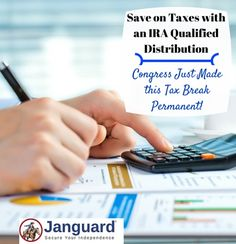 Take advantage of the IRA qualified charitable distribution to save money on your taxes. Retirement planning with this permanent tax break.