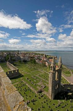 St. Andrews from above, Scotland