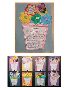 Brighten up your bulletin board with this simple spring writing craftivity! first and second grade descriptive writing