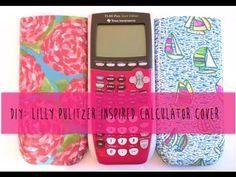 DIY...Lilly Pulitzer Inspired Calculator Cover