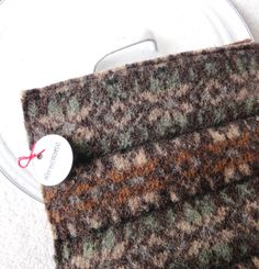 Wool Hot Pads / Pot Holders FALL COLORS Fair Isle / Nordic Potholders by WormeWoole