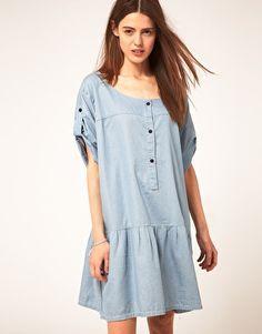 S$283.07 Ganni Oversized Denim Dress
