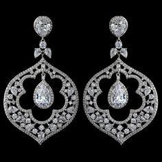 Bridal earrings Statement earrings CZ Wedding by TheExquisiteBride