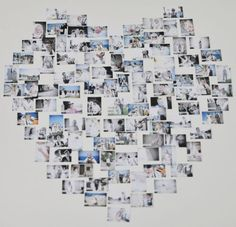 photos from past shaped in hearts in reception area!