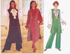 90s Butterick Sewing Pattern 3112 Womens Long Boho by CloesCloset, $9.00