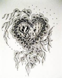 zentangle heart