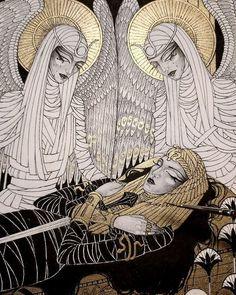 Dark Fantasy Art, Dark Art, Art Drawings, Art Sketches, Arte Do Kawaii, Arte Obscura, Egypt Art, Fairytale Art, Illustration Artists