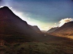 Evening trail run in Glencoe (via Arc'teryx athlete Tessa Hill)