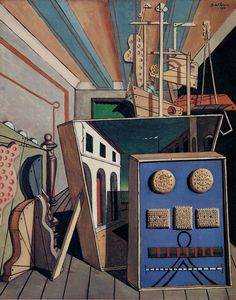 Giorgio de Chirico, Metaphysical Interior With Biscuits, 1916