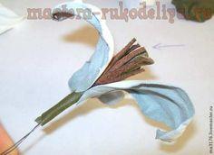 Мастер-класс по цветам из кожи: Белые лилии для туфелек Leather Tutorial, Icing