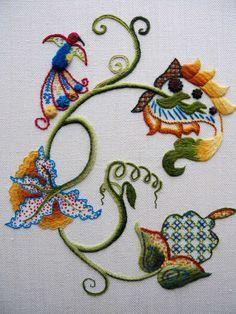 Jacobean Crewelwork by RSN Student Anne North