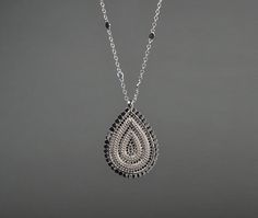 Large Drop Necklace by Anna Beck - Silverscape Designs