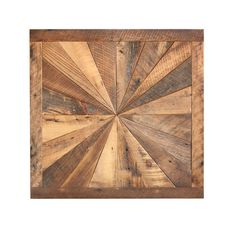 Starburst pattern wall art made from reclaimed by GrindstoneDesign