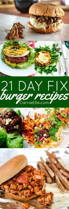 21 Day Fix Burger Recipes