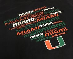 Miami Hurricanes Black Large Short Sleeve Tee T-Shirt #Champs #MiamiHurricanes