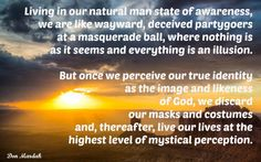 Living in our natural man state of awareness