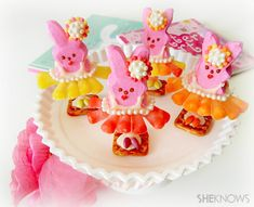 Peeps doing bunny ballet