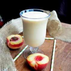 Skinny Peach and Cream Milkshake recipe
