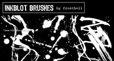 Ink Blots 1 - Download  Photoshop brush http://www.123freebrushes.com/ink-blots-1/ , Published in #GrungeSplatter. More Free Grunge & Splatter Brushes, http://www.123freebrushes.com/free-brushes/grunge-splatter/ | #123freebrushes