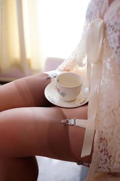 My favourite lace negliegee and china cup