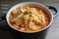 Buffalo Chicken and Potato Soup  #recipe #foodstorage #freezedried www.carolinafoodstorage.com