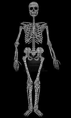 Skeleton typogram 1