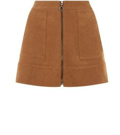 Petite. This suedette zip front skirt is ideal for adding to this years summer wardrobe - try with a white shell top and platform heels complement.- Zip front detail- Soft suedette finish- Casual fit- Flared design- Mini length- Pocket front detail- Model wears UK 10/EU 38/US 6 Petite size guide:UK size 4: Bust - 78cm, Waist - 60cm, Hips - 84cmUK size 6: Bust - 80cm, Waist - 62cm, Hips - 86cmUK size 8: Bust - 84cm, Waist - 66cm, Hips - 90cmUK size 10: Bust - 88cm, Waist - 70cm, Hips…